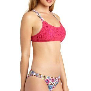California Waves Juniors' Crochet Bralette Bikini